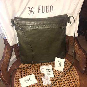 HOBO Stark Crossbody Bag willow green leather